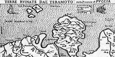 Mappa Terremoto del 1627