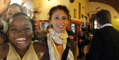 Sabina Montaldo volontaria in Togo