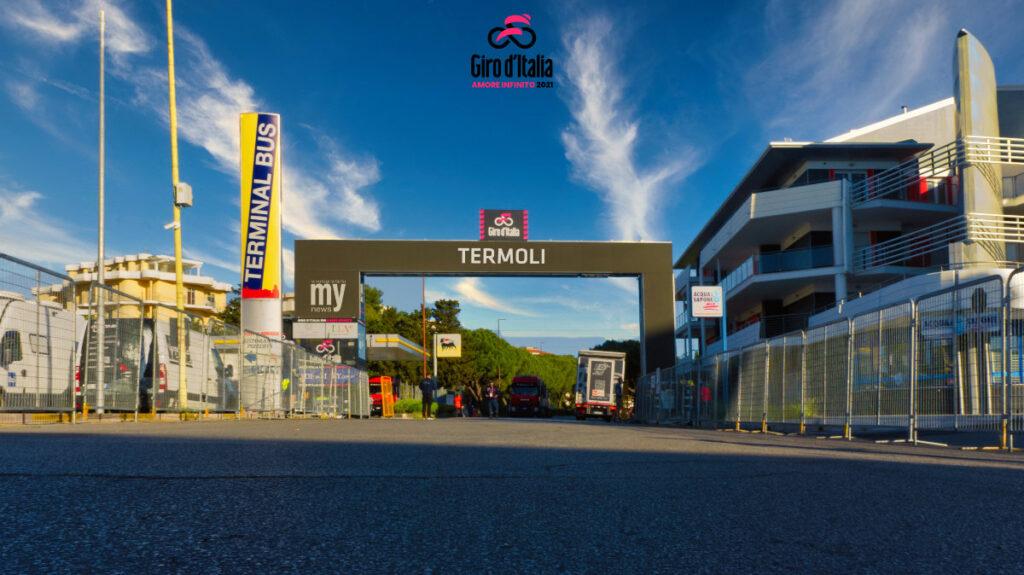 Giro d'Italia 2021 - il traguardo di Termoli