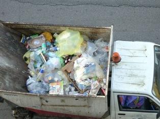 I rifiuti mischiati fotografati dall'alto (foto Donato Santoianni Quartet)