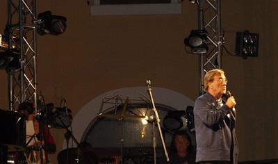 Lucio Dalla in corcerto alle Tremiti (foto Gabrio)