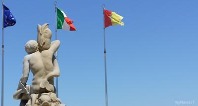 Termoli la Fontana di P.zza S.Antonio: la figura del giovane Nettuno che sembra soggiogare dei pesci