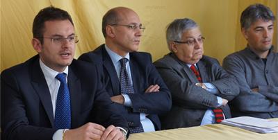 Massimo Romano con Filippo Monaco, Giuseppe Astore ed Antonio Giuditta