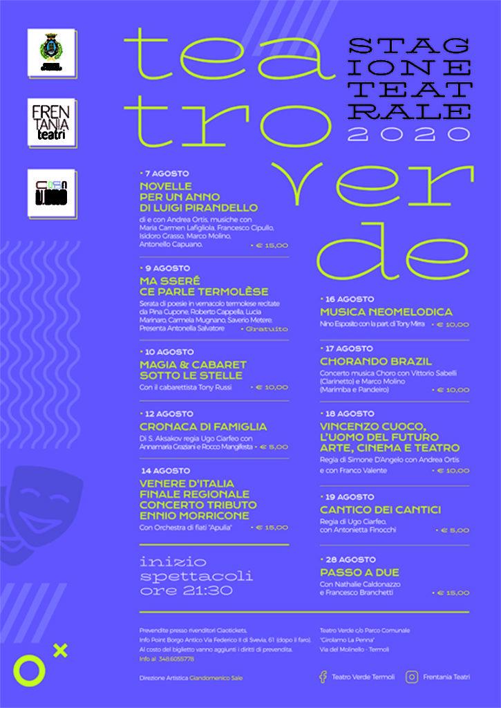 Locandina Teatro Verde 2020